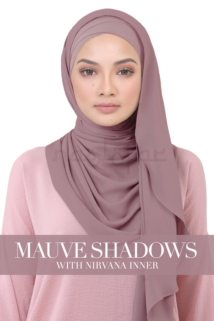 BE LOFA INSTANT KOREAN CHIFFON - MAUVE SHADOWS WITH NIRVANA INNER