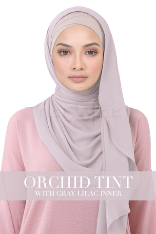 BE LOFA INSTANT KOREAN CHIFFON - ORCHID TINT WITH GRAY LILAC INNER