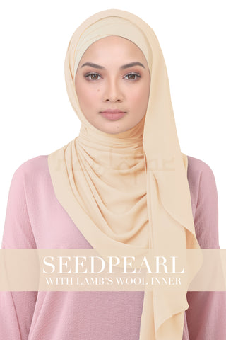 BE LOFA INSTANT KOREAN CHIFFON - SEEDPEARL WITH LAMB'S WOOL INNER