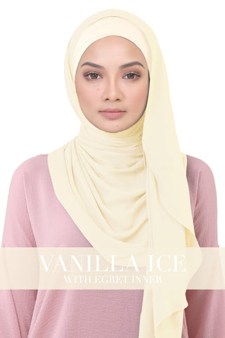 BE LOFA INSTANT KOREAN CHIFFON - VANILLA ICE WITH EGRET INNER