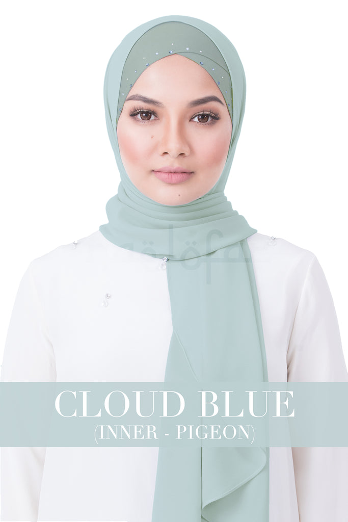 BE LOFA INSTANT RAYA SWAROVSKI - CLOUD BLUE WITH PIGEON INNER
