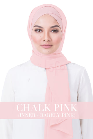 BE LOFA INSTANT RAYA PLAIN - CHALK PINK WITH BARELY PINK INNER