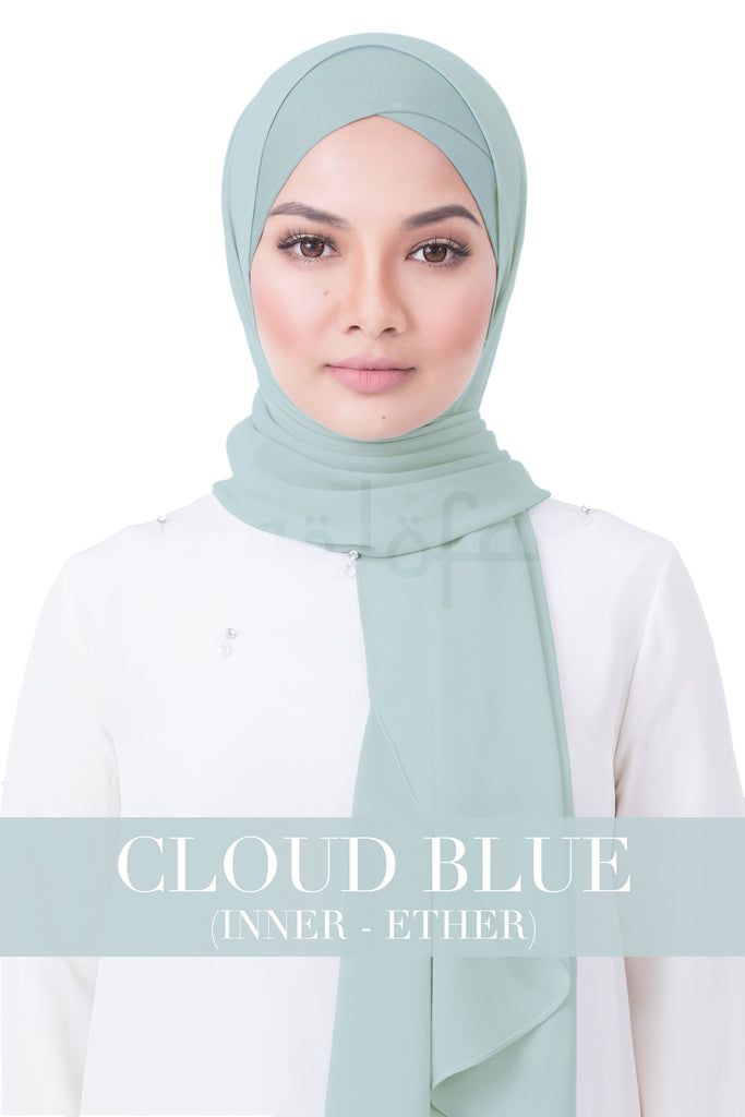 BE LOFA INSTANT RAYA PLAIN - CLOUD BLUE WITH ETHER INNER