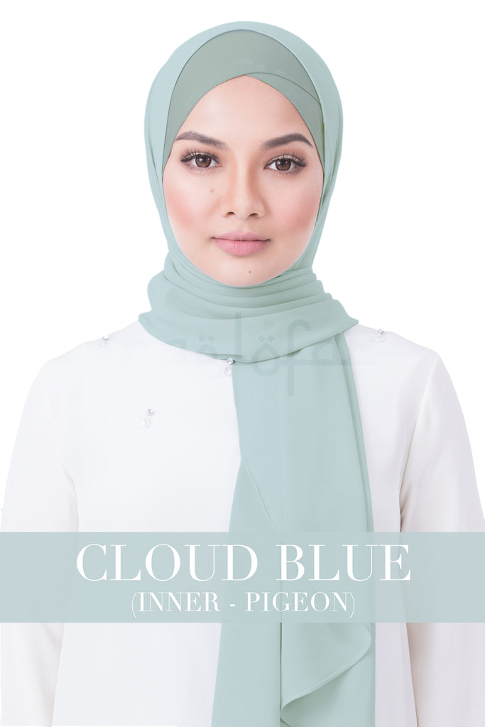 BE LOFA INSTANT RAYA PLAIN - CLOUD BLUE WITH PIGEON INNER