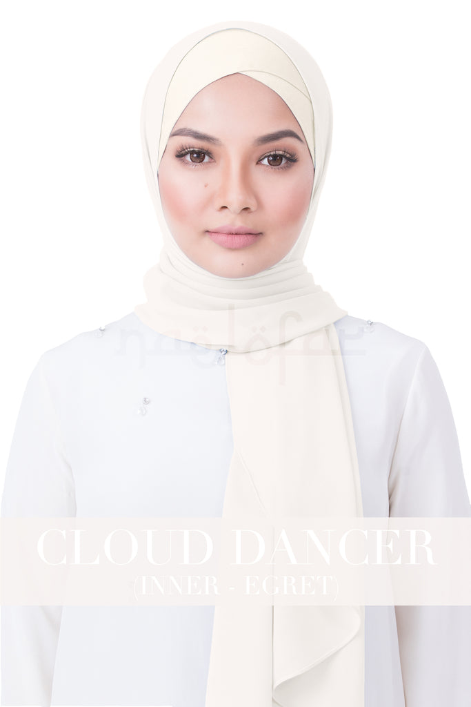 BE LOFA INSTANT RAYA PLAIN - CLOUD DANCER WITH EGRET INNER