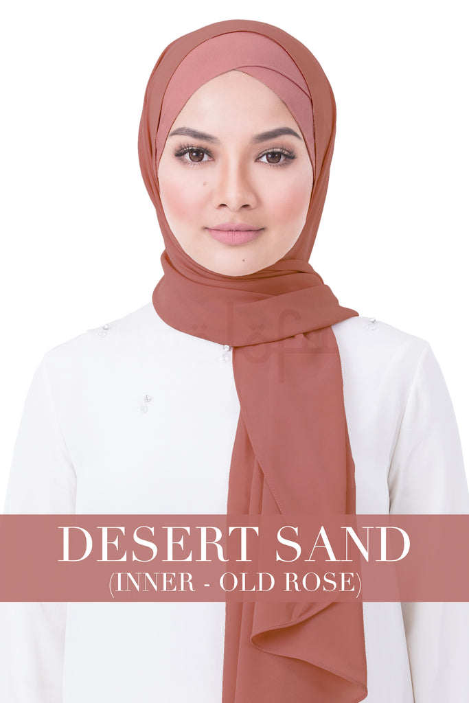 BE LOFA INSTANT RAYA PLAIN - DESERT SAND WITH OLD ROSE INNER