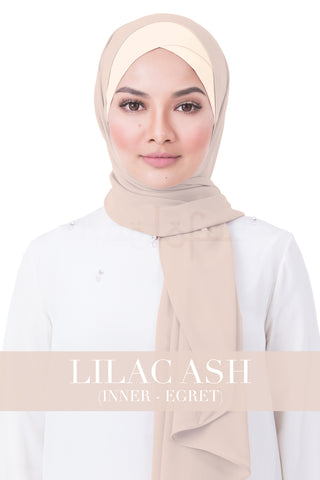 BE LOFA INSTANT RAYA PLAIN - LILAC ASH WITH EGRET INNER