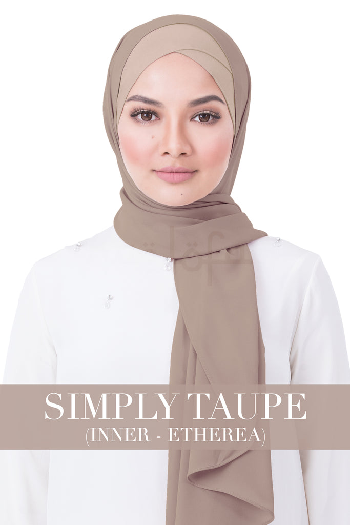 BE LOFA INSTANT RAYA PLAIN - SIMPLY TAUPE WITH ETHEREA INNER