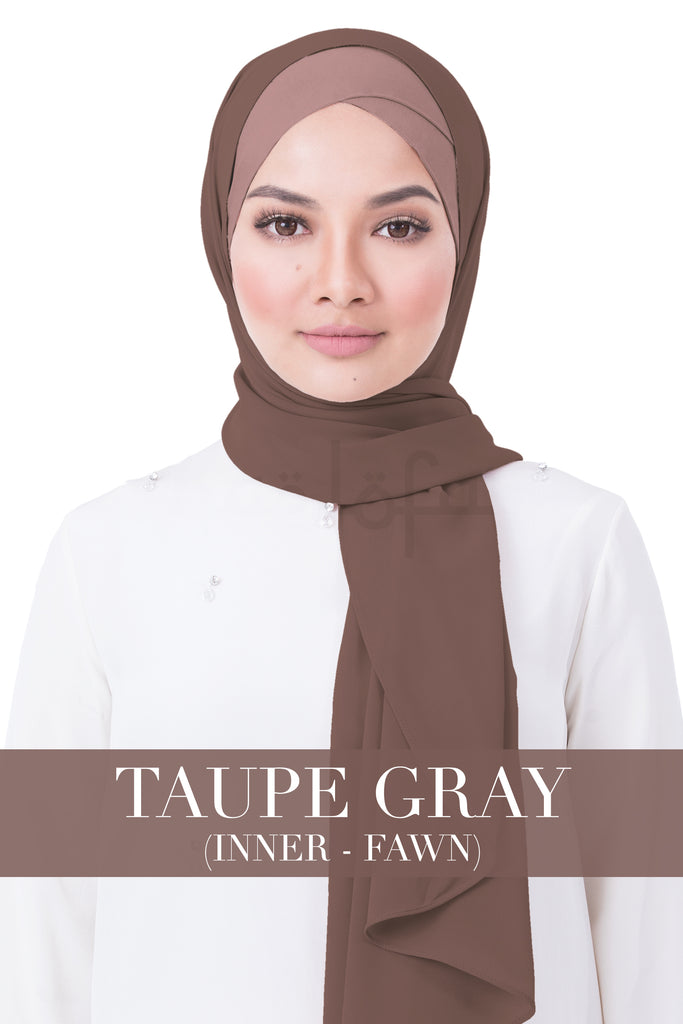 BE LOFA INSTANT RAYA PLAIN - TAUPE GRAY WITH FAWN INNER