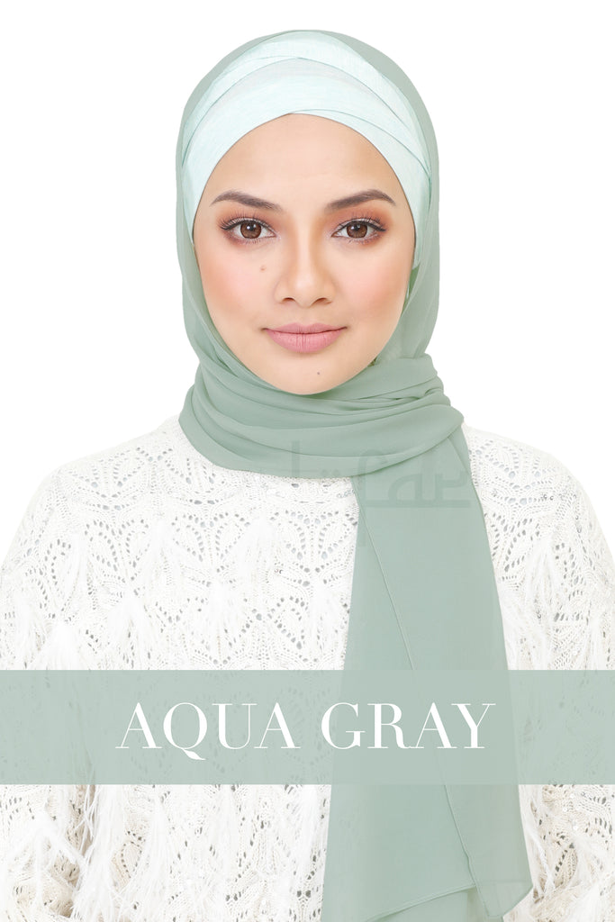 BE LOFA SHAWL - AQUA GRAY