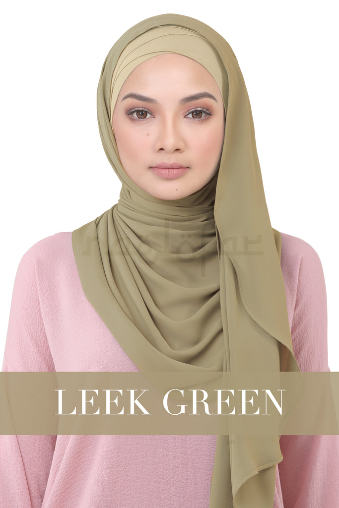 BE LOFA INSTANT KOREAN CHIFFON - LEEK GREEN