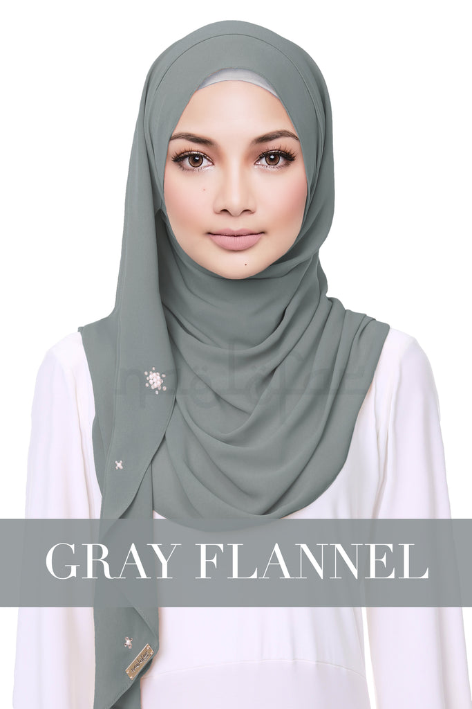 CREAMY HELENA - GRAY FLANNEL