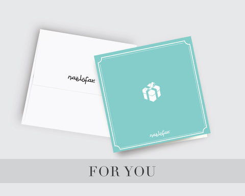 WISH CARD NAELOFAR - FOR YOU