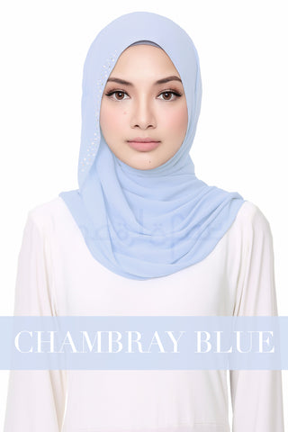 FLUFFY HELENA - CHAMBRAY BLUE