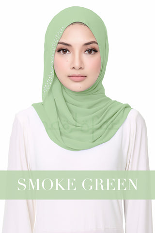 FLUFFY HELENA - SMOKE GREEN