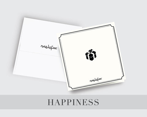 WISH CARD NAELOFAR - HAPPINESS