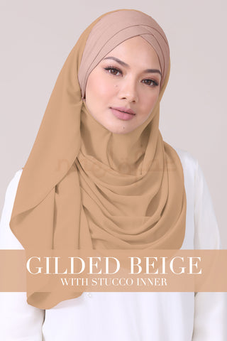 JEMIMA - GILDED BEIGE WITH STUCCO INNER