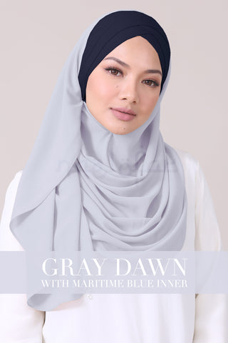 JEMIMA - GRAY DAWN WITH MARITIME BLUE INNER