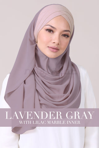JEMIMA - LAVENDER GRAY WITH LILAC MARBLE INNER