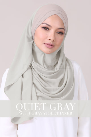 JEMIMA - QUIET GRAY WITH GRAY VIOLET INNER