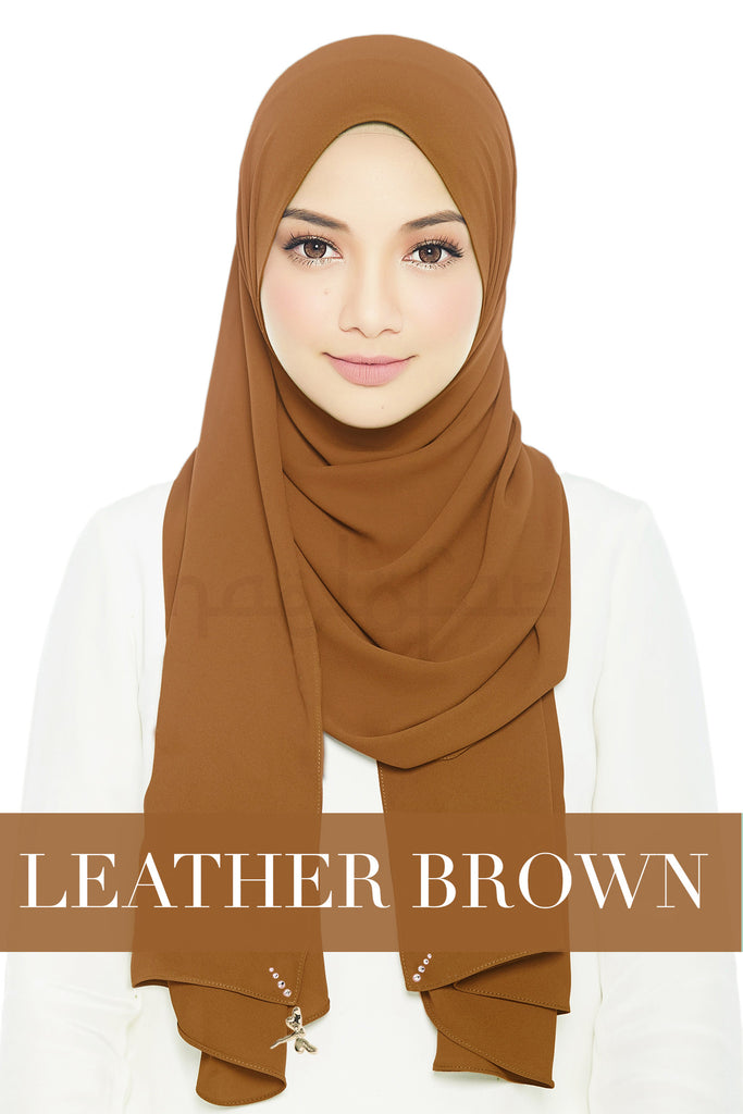 LADY LOFA - LEATHER BROWN