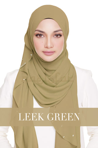 LADY WARDA - LEEK GREEN