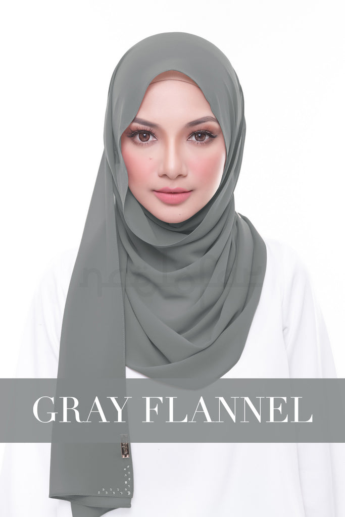 MISS LOFA PLAIN - GRAY FLANNEL