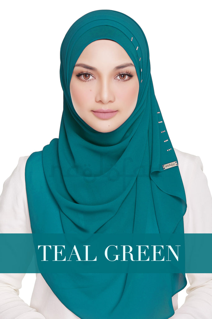 QUEEN WARDA - TEAL GREEN
