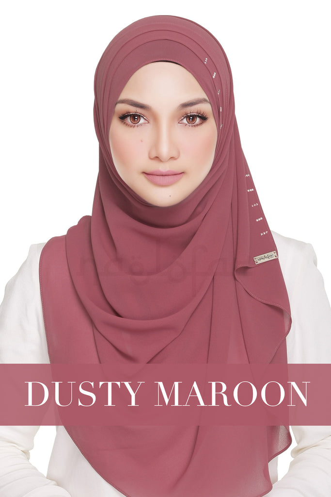 QUEEN WARDA - DUSTY MAROON