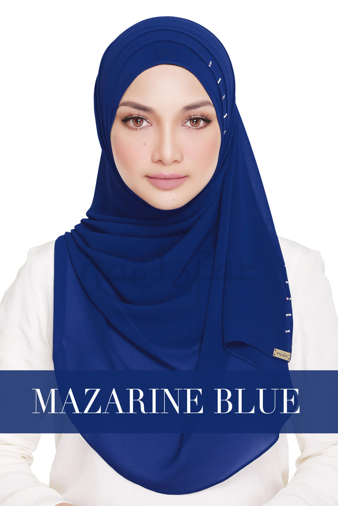 QUEEN WARDA - MAZARINE BLUE