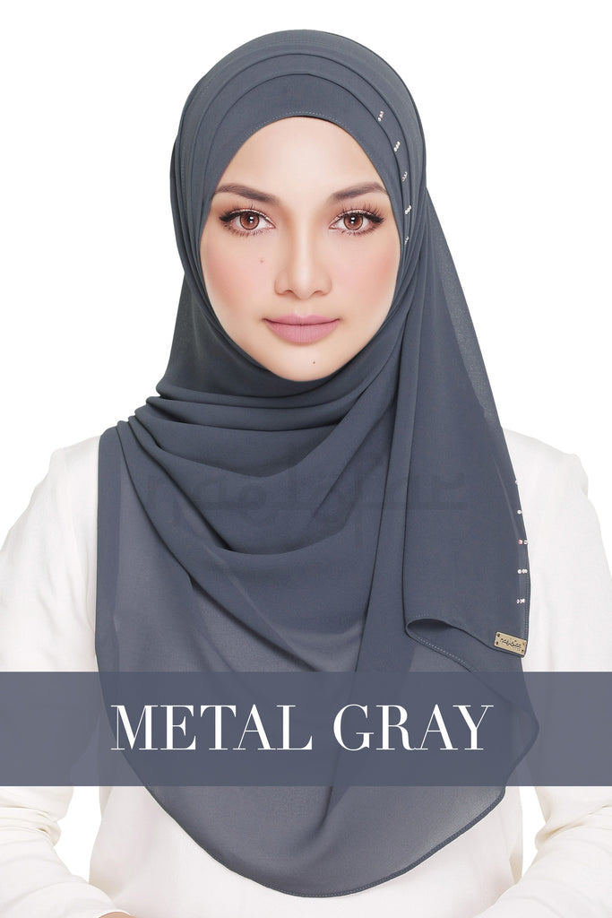 QUEEN WARDA - METAL GREY