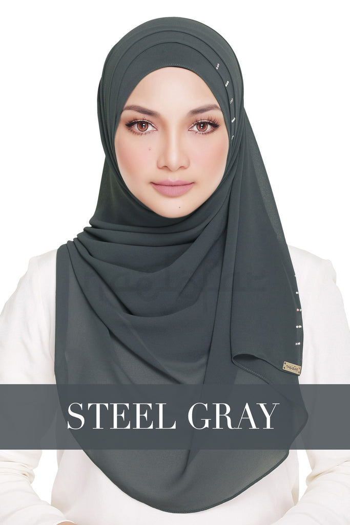 QUEEN WARDA - STEEL GRAY