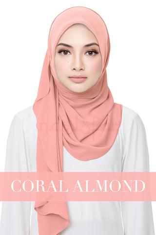 SWEET HELENA PLAIN - CORAL ALMOND