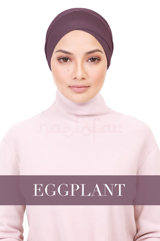 BE LOFA TURBAN - EGGPLANT