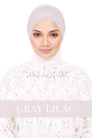 BE LOFA TURBAN - GRAY LILAC