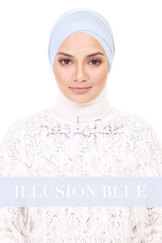 BE LOFA TURBAN - ILLUSION BLUE