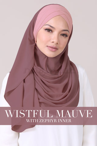 JEMIMA - WISTFUL MAUVE WITH ZEPHYR INNER
