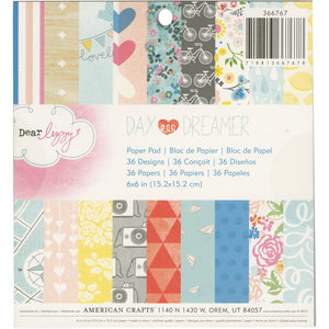 "American Crafts RETIRED Dear Lizzy ""Daydreamer"" 6"" x 6"" Paper Pad"