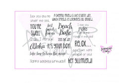 "C.C. Designs AmyR Sentiments ""Oh So Beachy!"" Rubber Stamp"