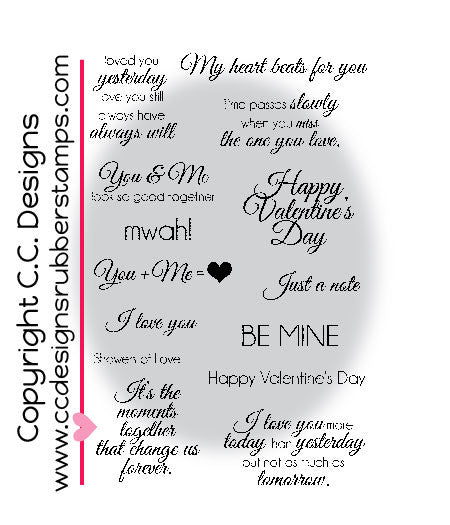 "CC Designs Amy R ""Elegant Valentine"" Rubber Stamp"
