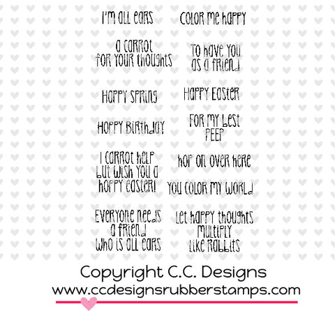 "CC Designs Amy R ""Hopped Up"" Rubber Stamp"