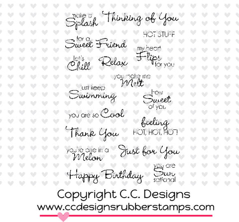 "CC Designs Amy R ""Pool Party"" Rubber Stamp"