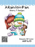 "A Random Fan *RETIRED* ""Seasons of Love"" Unmounted Rubber Stamp"