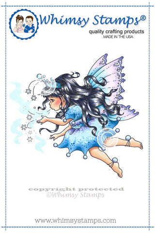"Whimsy Stamps/C. Armstrong ""Snowflake Fairy Princess"" Rubber Stamp"