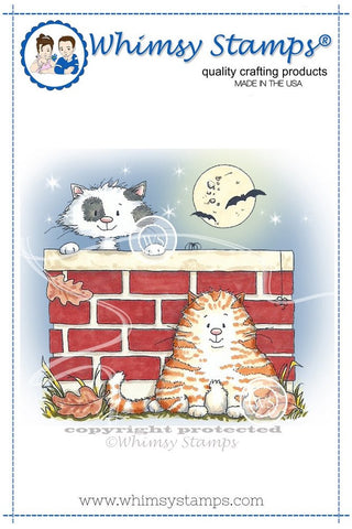 "Whimsy Stamps/C. Armstrong ""Kitties on Halloween"" Rubber Stamp *NEW*"
