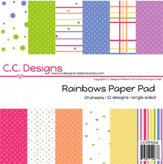 "C.C. Designs ""Rainbows"" 6"" x 6"" Paper Pad *NEW*"