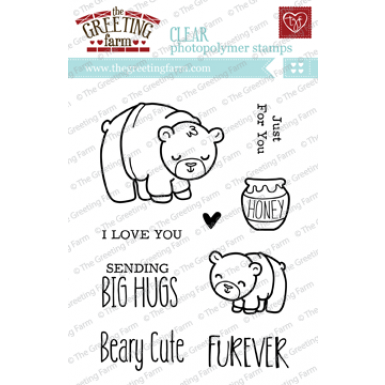 "The Greeting Farm ""Beary Cute"" Clear Stamp"