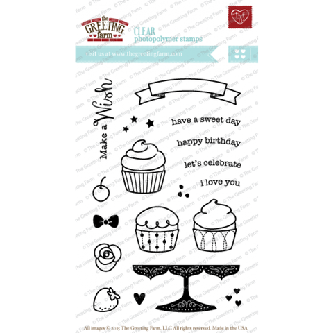 "The Greeting Farm ""Make A Wish"" Clear Stamp"