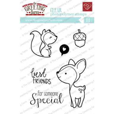 "The Greeting Farm ""Wood Friends"" Clear Stamp"