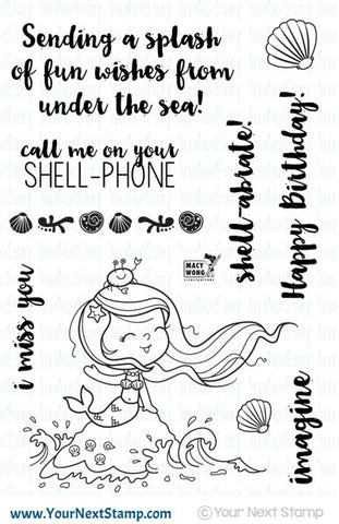 "Your Next Stamp ""Little Darling Mermaid"" Clear Stamp Set"